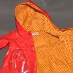 Manteau ciré rouge
