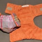 Couche à carreaux doublée orange